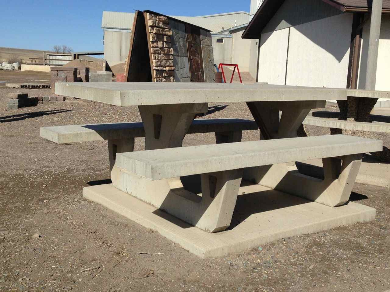 Exposed Aggregate Wheelchair Accessible Picnic Table